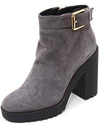B7390 tronchetto donna HOGAN ROUTE 275 scarpa grigio boot shoe woman 9dab9ca04c3