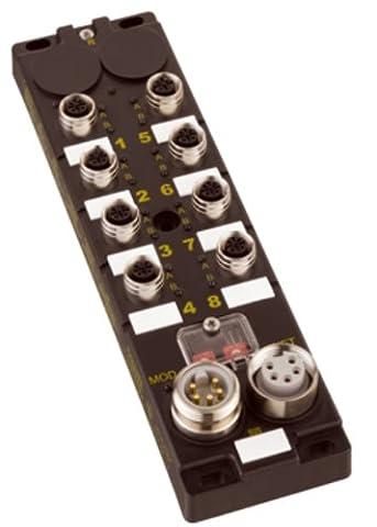 Brad TCDEI-8B4N-D1U HarshIO 600 Digital IP67 IO Module, For EtherNet/IP, 5 Power Pin, 12 Input, 4 Output, NPN Input Channel