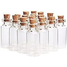 danmu pequeño, arte 50pcs 5 ml Mini botellas de vidrio tarros con tapón ...