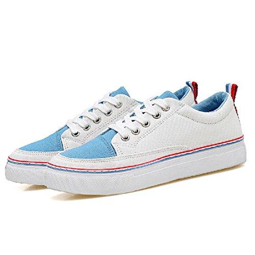 Mode Sportschuhe Atmungsaktiv Freizeit Gemütlich Werkzeugschuhe Flache Schuhe Light Blue