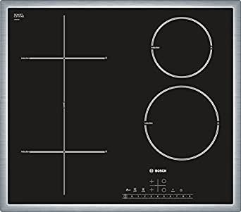 Bosch Pit 645F17e Plaque Électrique/Céramique/Verre Céramique/58,3cm/Direct Select/Noir