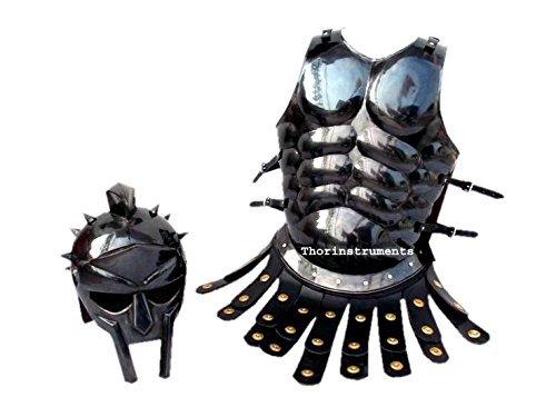 Spartan Kostüm Rüstung - THORINSTRUMENTS Thor Instruments.Co Mittelalterliche römische Rüstung Spartan-Kostüm, Muskeljacke, Antik-Finish