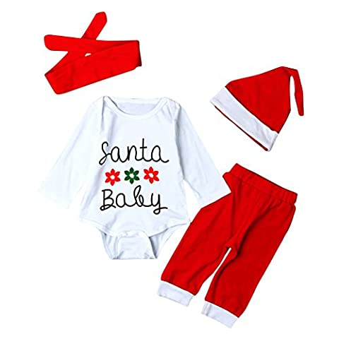 Bébé Père Noël Chapeaux - Brightup Bébé Garçon Fille Ensembles de Noël,