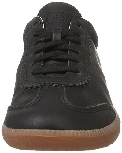 ESPRIT Damen Trainee Lace Up Sneakers Schwarz (Black 001)
