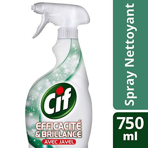 CIF Pistolet Spray Nettoyant Javel, Efficacité & Brillance (Lot de 3x750ml)