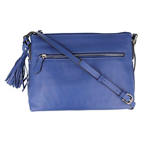 Clarks Tabley Park Schultertaschen Blue Leather