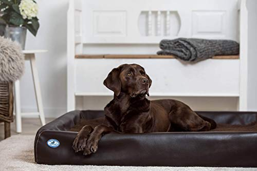 SABRO Kudde Hundebett Visko Farbe zartbitter, Größe XL