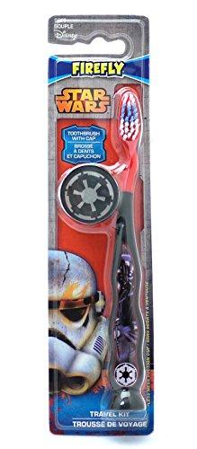 (Disney Star Wars Zahnbürste für Kinder, mit Reiseschutzhülle)