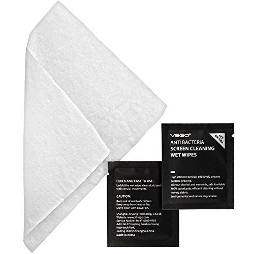 VSGO 60er Paket Spezial Reinigungstücher Feuchtreinigungstücher Wet Wipes für Smartphone iPhone Tablet PC Brille etc- einzeln Vakuumverpackt -