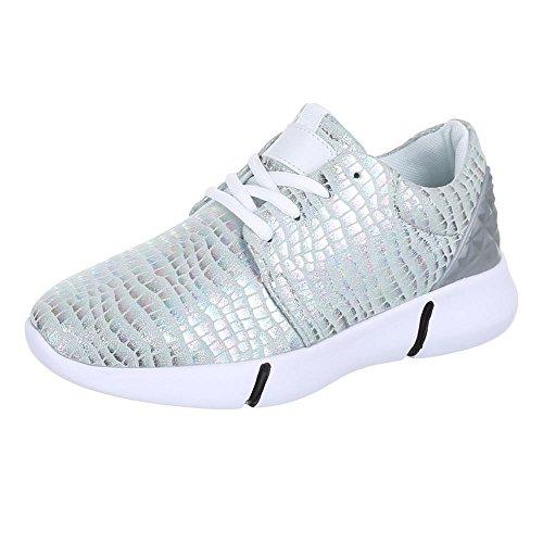 Ital-Design, Sneaker donna, Argento (argento), 40 EU
