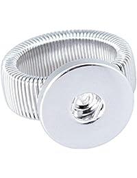 Soleebee Réglable Argent Click-Button Bague pour 18mm Bouton a Pression