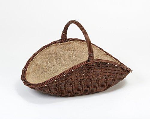 Tigana - Kaminkorb Holzkorb Kaminholzkorb aus Weide mit Jute (Art. 90100-DK)