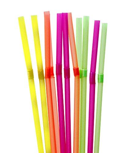 Trinkhalme 1000 Stück Knickbar in vier Farben Cocktail Strohhalme