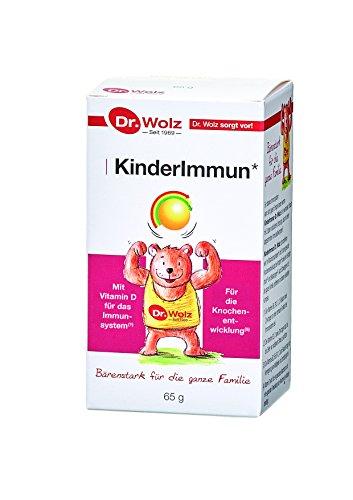 Kinderimmun Dr. Wolz |ausgewählter Wirkkomplex| ohne Zusatzstoffe|für Kinder ab 2 Jahren | 65 g (Immun Kinder Vitamine)