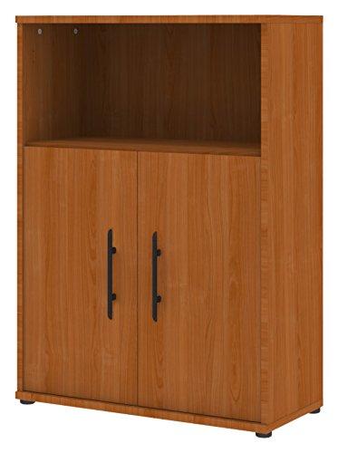 Wellemöbel, Büro Combi+, Aktenschrank 80 cm, 3 Ordnerhöhen, Kirschbaum