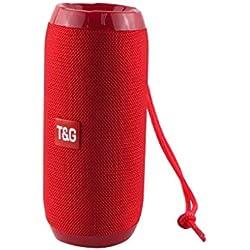 Haut-Parleur Bluetooth Portable Enceinte Bluetooth Portable Puissante Pas Cher Pilote Double Stéréo HD Subwoofer avec Son 360°, Basse Améliorée, Carte TF Mains-Libres
