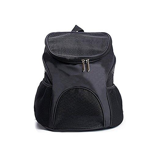 Imagen para PETCUTE Portador de Mascotas Mochila Bolsa para los Pequeños Gatos y Perros Diseño Ventilado Bolsa de Titular Bolsas de Viaje para el Recorrido Que Camina al Aire Libre Negro