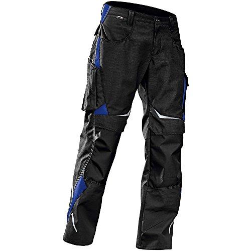 Kübler Pantalon de travail impulsion 2424 Noir/Bleu Bleuet