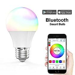 Magichue Neu Smart Led Bluetooth Gegenwert 40w Rgbw Lampe, 16 Mio Farben Und Diy Leuchtmittel Dimmbar Bulbs, Timerwecker, Musik & Mic Beleuchtung E27 Für Android Und Ios