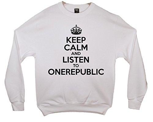 Keep Calm and Listen To OneRepublic Sweatshirt - Weiß - 9/11 Jahre