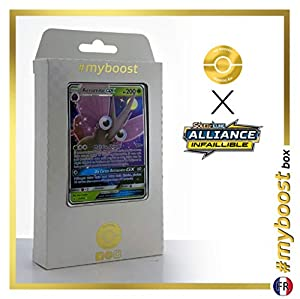 Aéromite-GX (Venomoth-GX) 12/214 - #myboost X Soleil & Lune 10 Alliance Infaillible - Box de 10 cartas Pokémon Francés