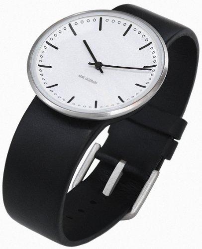 Rosendahl 43441 - Reloj analógico unisex de cuarzo con correa de piel negra