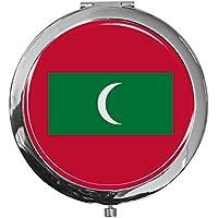 "metALUm - Extragroße Pillendose in runder Form""Flagge Malediven"" preisvergleich bei billige-tabletten.eu"