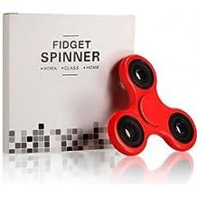 Jadebin Fidget Spinner Toy, Red