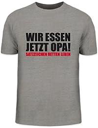 Shirtstreet24, Wir Essen Jetzt Opa, Herren T-Shirt Fun Shirt