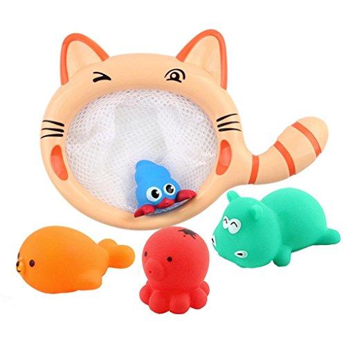 Badespielzeug, Sansee Baby Kinder Bade-Spielzeug Waschen spielen Cartoon Pull Pädagogische Spielzeug (1 Set, Als Bild zeigen)
