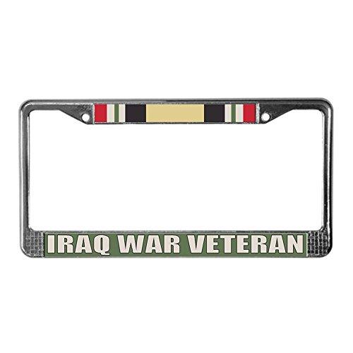 Cafepress-Iraq War Veteran-Chrome targa di immatricolazione, licenza tag Holder by Cafepress