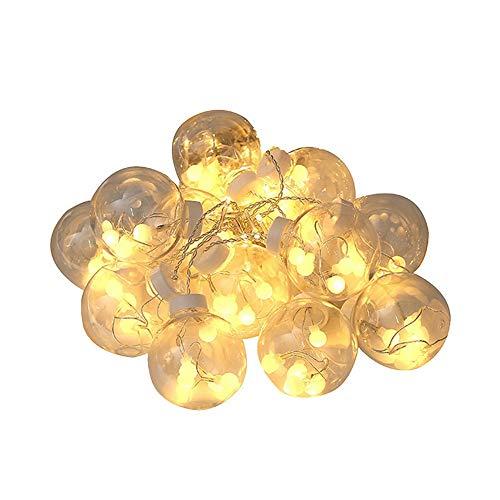 Mmurong Strisce LED Decorativa da Interni e Esterni Lucine Led DecorativeLed stringa calda luce 12 palle che desiderano palla stringa luce Natale Giardino Matrimonio Decorazione Fata Tenda Luce