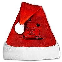 tyutrir Guinea Pig Family Red Velvet Santa Hat Christmas Theme Costume Accessory 17429