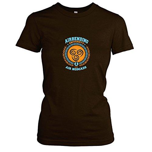 (TEXLAB - Airbending University - Damen T-Shirt, Größe M, braun)
