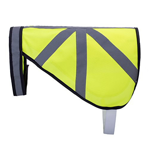 Gilet de signalisation pour chien de taille petite à grande, jaune fluo haute visibilité avec réflecteurs, par Amathings