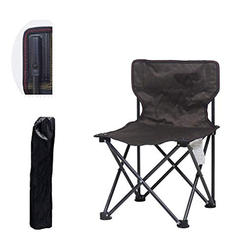 Ibs-unterstützung (ZHZX Beweglicher Stabiler faltender kampierender Stuhl mit Tragetasche, Unterstützung 176 Ibs,Coffee)