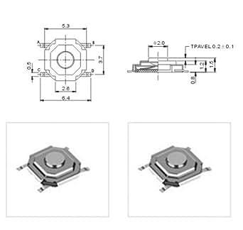 10 st smd sub miniature poussoir neuf ultra petite taille parfait pour les t l commandes. Black Bedroom Furniture Sets. Home Design Ideas