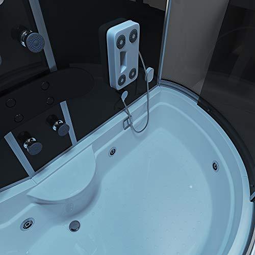 Home Deluxe ALL IN 4in1 Duschtempel, inkl. Dampfsauna und komplettem Zubehör (schwarz, rechts) - 5