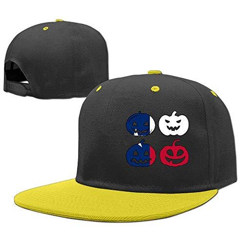 p Hop Baseball Cap Texas Halloween Pumpkin Head Trucker Hat ()