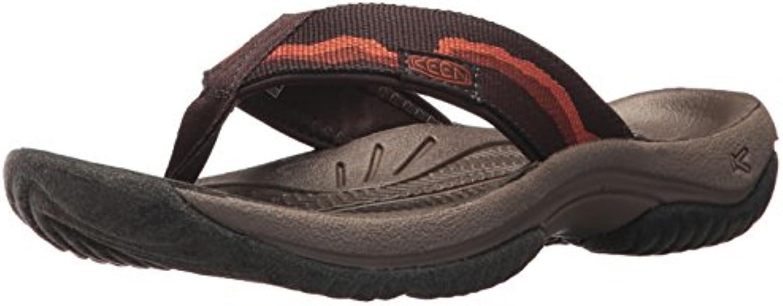 KEEN Men's Kona Flip M Flat Sandal  Mulch/Espresso  12 M US