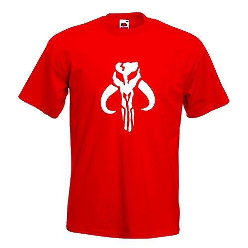 KIWISTAR - Boba Fett T-Shirt in 15 verschiedenen Farben - Herren Funshirt bedruckt Design Sprüche Spruch Motive Oberteil Baumwolle Print Größe S M L XL XXL Rot
