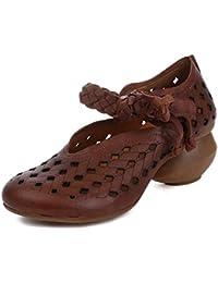 Las Sandalias Huecas Casuales Originales de Las Mujeres Artes y Artesanías del Grabado del Laser Diseñan los Holgazanes...