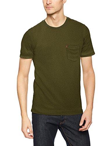 Levi's Herren T-Shirt SS Set-in Sunset Pocket, Grün/Cypress Heather 0044, 2X-Large (Cypress Shirt Herren)