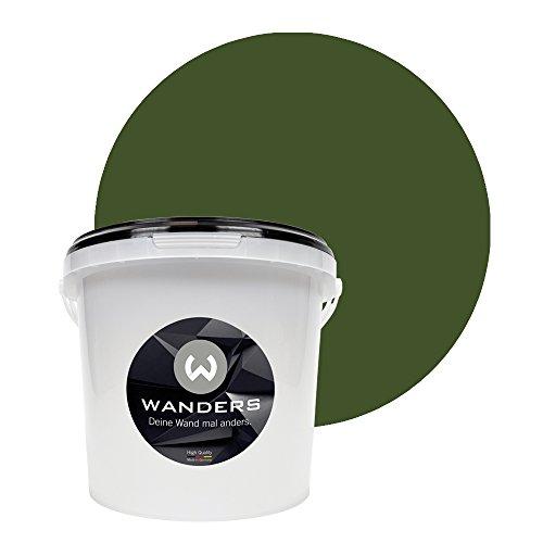 Wanders24 Tafelfarbe (3Liter, Khaki Grün) matte Wandfarbe in 20 Farbtönen erhältlich, individuelle Gestaltung für Zuhause, Farbe made in Germany