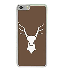 PrintVisa Vector Deer Design High Glossy Metal Designer Back Case Cover for Micromax Canvas Knight 2 E471
