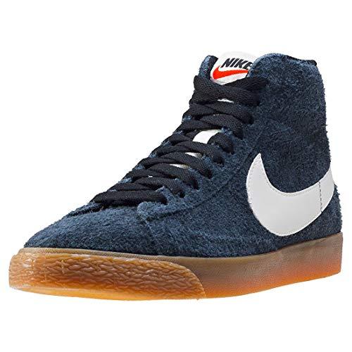 NIKE WMNS Blazer Mid Suede Vintage Schuhe Damen Echtleder-Sneaker Mid Top Grau 518171 017, Größenauswahl:40.5