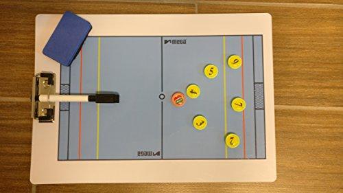 Lavagnetta tattica portablocco per pallanuoto,su due lati, con magneti, penna e cancellino (24x 34cm)