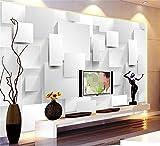 Abihua Carta Da Parati 3D Carta Da Parati Personalizzata Foto Murale Soggiorno Scatola Dimensionale 3D Pittura Tv Divano Sfondo Muro Carta Da Parati Per Pareti 3D 380Cm X 240Cm