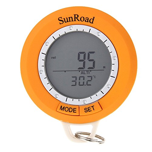 WARM home Kreativ Multifunktions Mini LCD Digital Camping Wandern Schrittzähler mit Höhenmesser & Thermometer & Wettervorhersage & Barometer & Kompass & Time & Backlight-Funktion Multifunktion -