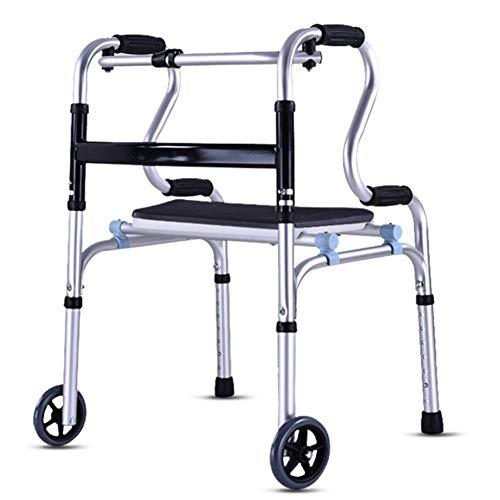 Drive Medical Deluxe Faltbarer Walker mit zwei Tasten und 5-Zoll-Rädern,915D